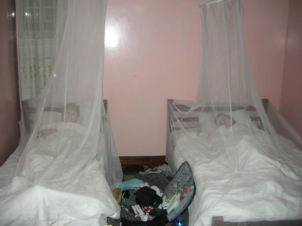 Mosquito nets!